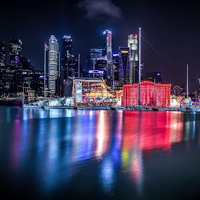 Singapore AngBao River 2014 by Charles Ong - City,  Street & Park  Night ( ang bao river 2014, night, singapore, Lighting, moods, mood lighting )
