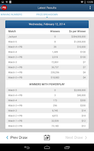 Powerball Results & Statistics - screenshot thumbnail