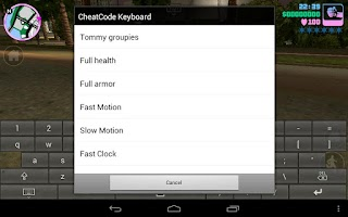 Screenshot of CheatCode Keyboard
