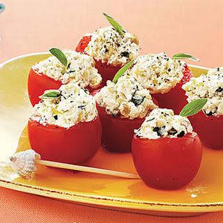 Italian Stuffed Cherry Tomatoes.