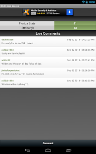 NCAA Football Live Scores FREE - screenshot thumbnail