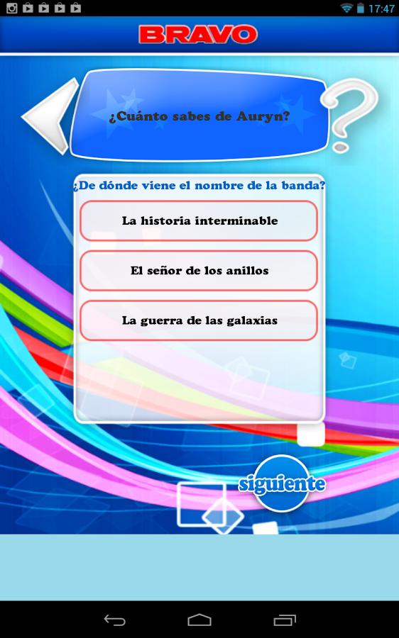 BRAVO test- screenshot