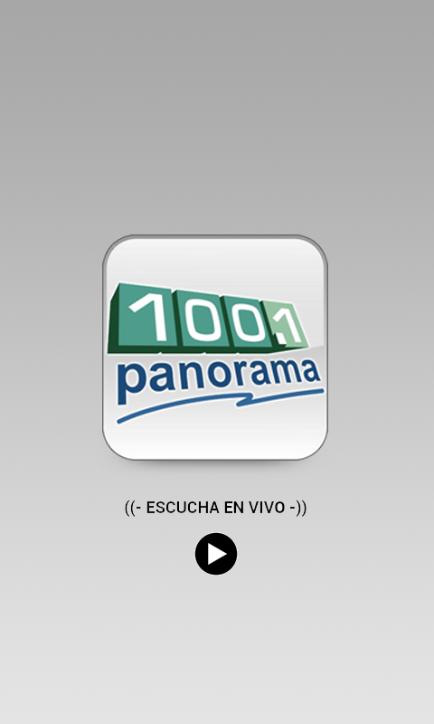 Panorama Radio: captura de pantalla