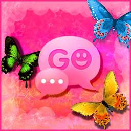 のテーマピンクの素敵なゴー GO SMS Pro Theme