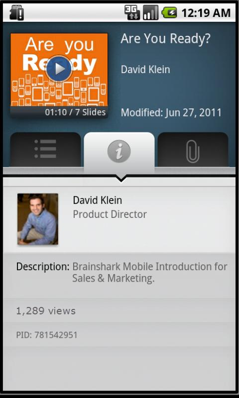 Brainshark Video Presentations - screenshot