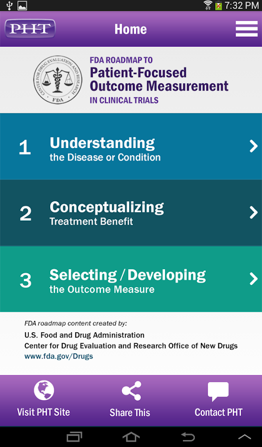 FDA Roadmap by PHT- screenshot