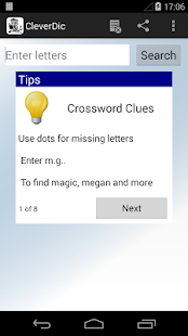 CleverDic Crossword Solver - screenshot thumbnail