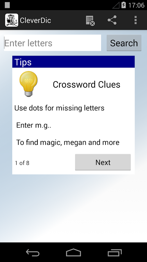 CleverDic Crossword Solver - screenshot