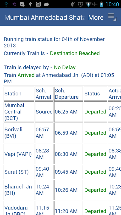 Indian Rail Enquiry - screenshot