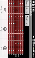 Screenshot of guitar/bass scale table