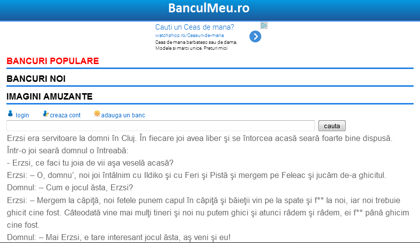 Bancuri Mioritice - screenshot