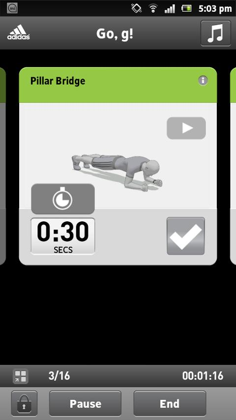 miCoach train & run - screenshot