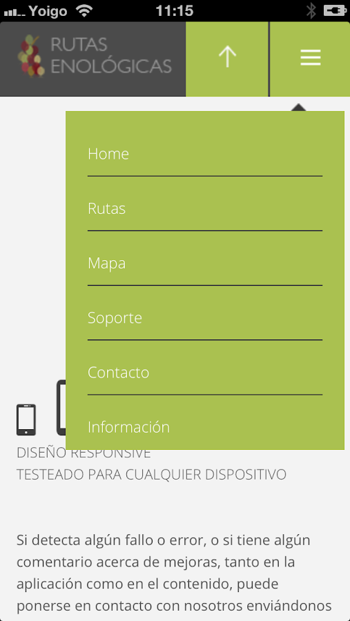 Rutas Enológicas – Screenshot