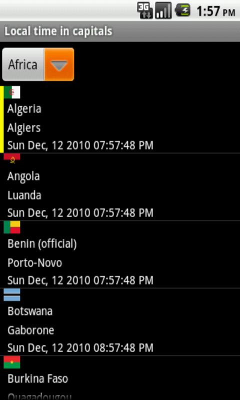 World Time - screenshot