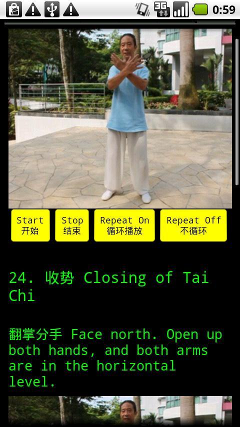 TaiChi 24 Teaching 5(24式太极拳-5)- screenshot