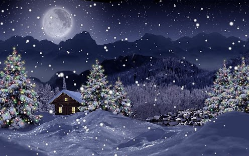 Winter Snow Xmas LWP Free - screenshot thumbnail