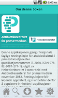 Screenshot of Antibiotika i primærmedisin