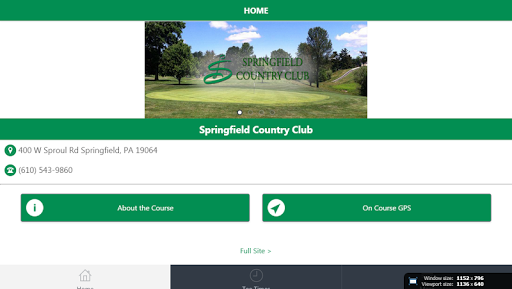 Springfield Township Golf