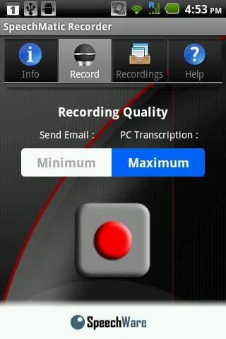 SpeechMatic Recorder