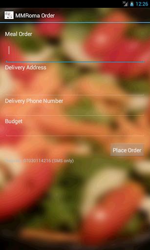 MammaRomma Order App