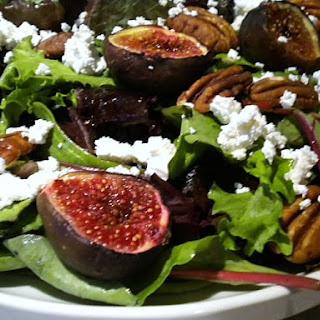 Roasted Fig, Feta and Pecan Salad