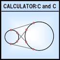 Coordinates calculator c and c icon