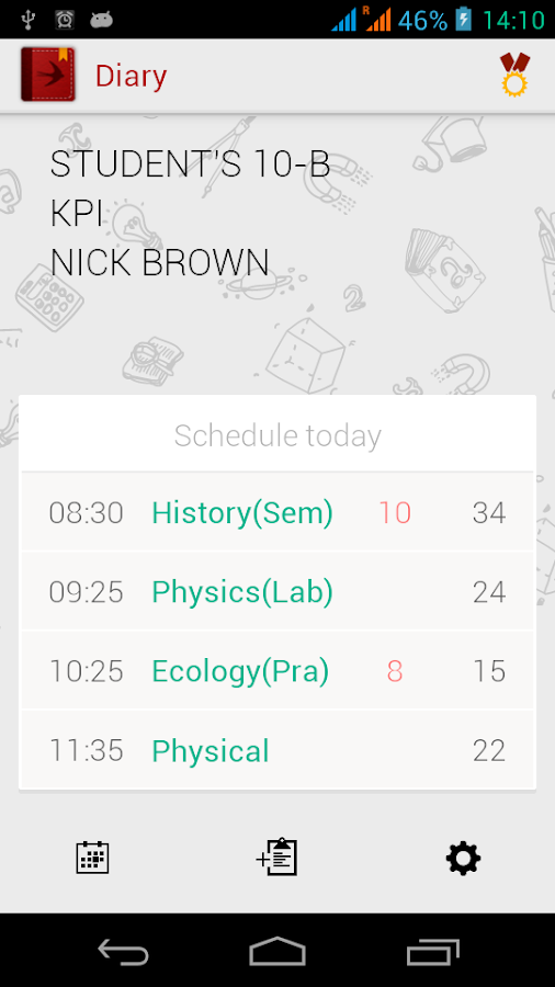 Diary (Timetable)- screenshot