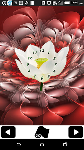 Flowers Clock Wallpapers