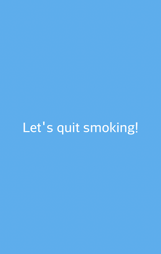 Let's quit smoking