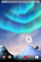 Screenshot of Aurora 3D free Live Wallpaper