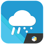 Material design weather widget