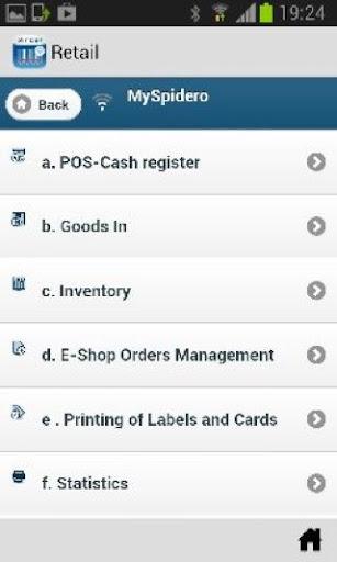 MySpidero Retail