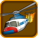Helicopter crash icon