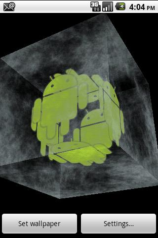 Android Ice Cube 3D Wallpaper - screenshot