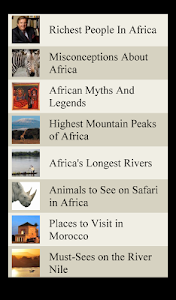 World Travel Lists - AFRICA screenshot 5