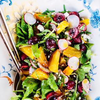 Golden Beet & Cherry Salad with Honey-Ginger Vinaigrette