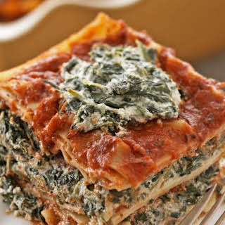 Tofu Spinach Lasagna.