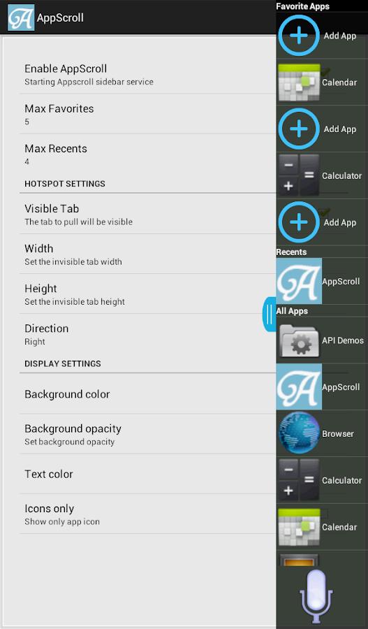 AppScroll Sidebar Lite- screenshot
