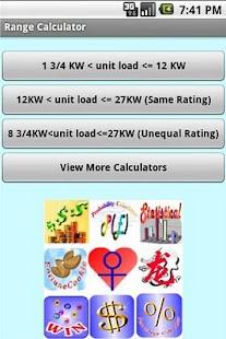 Range Calculator Screenshot 1