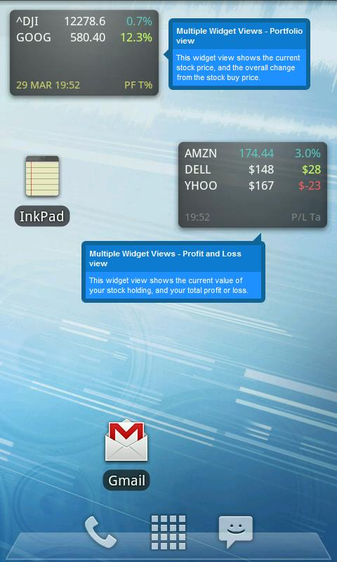 Ministocks - Stocks Widget- screenshot