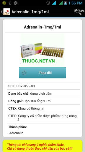 Từ điển thuốc screenshot