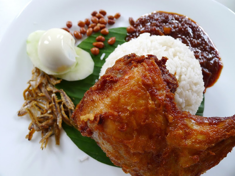 Nasi Lemak with Fried Chicken @ Sisters Kitchen - Malaysia Food