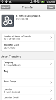 Screenshot of Infor Lawson Mobile Assets
