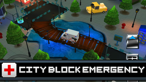 3D Ambulance Blocky Parking