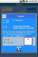 Screenshot of Calculator Area & Perimeter