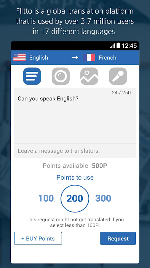 Flitto-Translate faster&better- screenshot