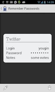 Remember Passwords - screenshot thumbnail