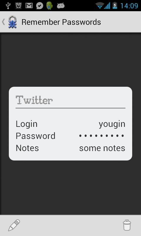 Remember Passwords - screenshot