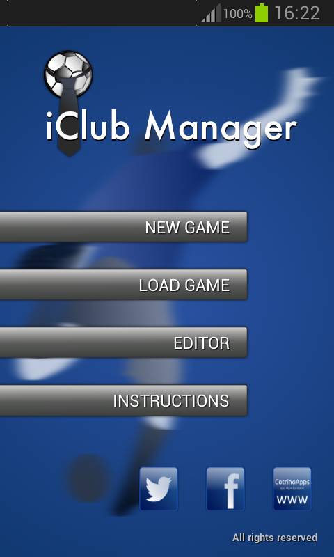 iClub Manager- screenshot