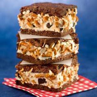 Sweet & Salty Brownie Ice Cream Sandwiches.